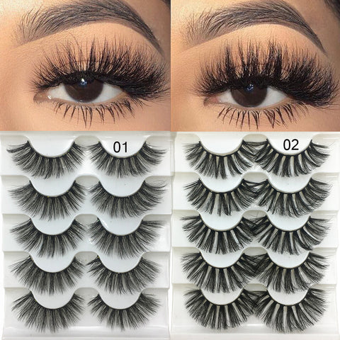 3D Faux Mink Hair Soft False Eyelashes
