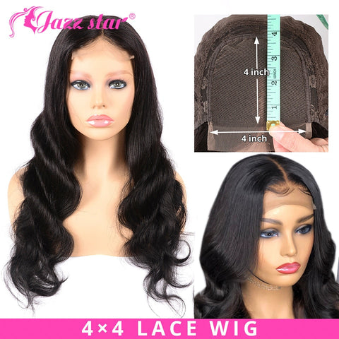 Brazilian 4x4 Lace Closure Body Wave Wig Pre-Plucked with Baby Hair