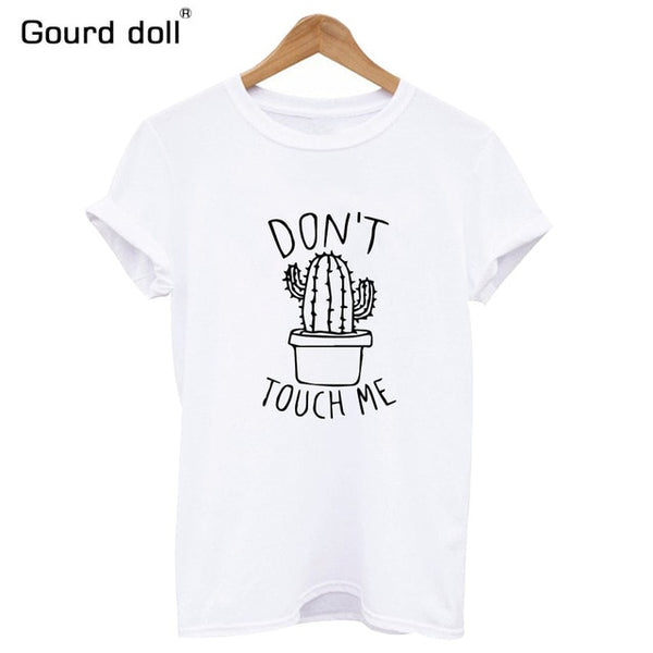 white dont touch me t-shirt