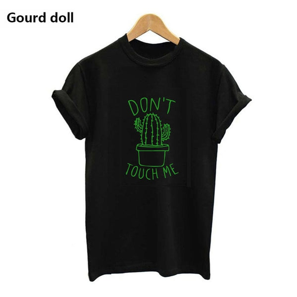 black dont touch me t-shirt