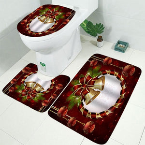 Christmas Printed Bathroom Four-piece Set