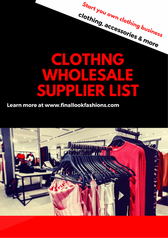 Clothing Wholesale Supplier List