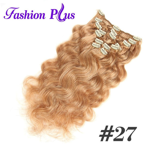 Fashion Plus Clip In Human Hair Extensions Remy Hair Extensions Remy Hair 7pcs/set