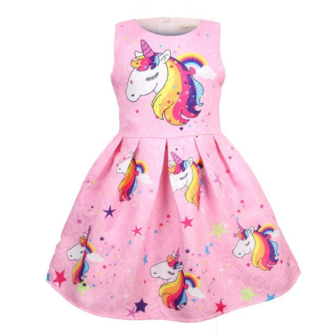 Girls unicorn dresses and mask