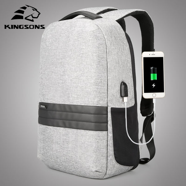 Kingsons 15 inch Laptop USB Backpacks