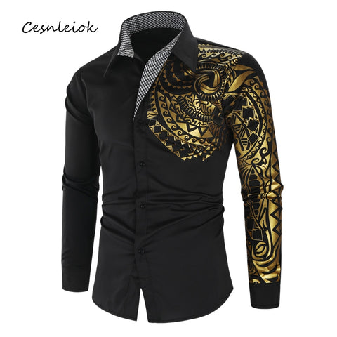 Luxury Men New Slim Fit Long Sleeve Shirt
