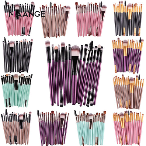 MAANGE Pro 15Pcs Makeup Brushes Set Cosmetic Beauty Tool kit