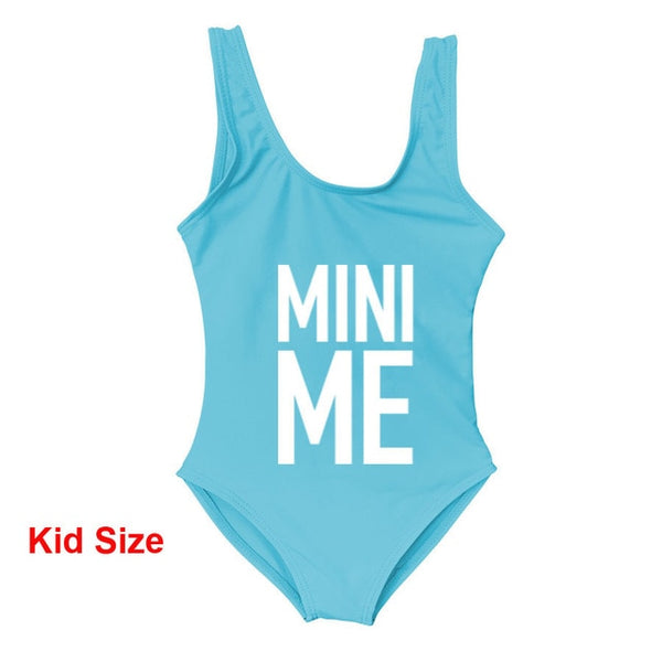 Mother and Daughter Children Bikini Me and Mini Me Letter Print Swimwear One Piece Swimsuit