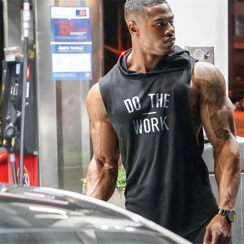 Muscle guys Shirt DO THE WORK Tank Top Shirt