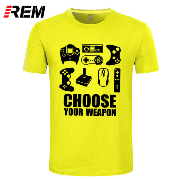 REM Men's Choose Your Weapon Gamer T Shirt