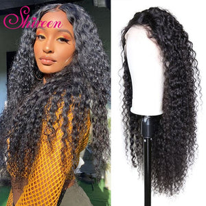 Shireen Kinky Curly Remy Brazilian Human Hair Wig 4x4 Lace Closure Wig Pre Plucked With Baby Hair