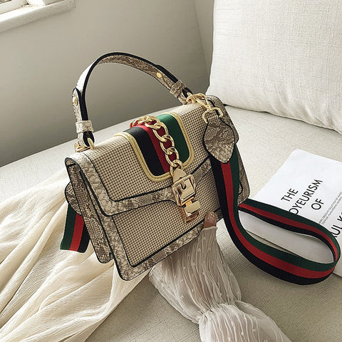 Print Flap Mini Shoulder Crossbody HandBag