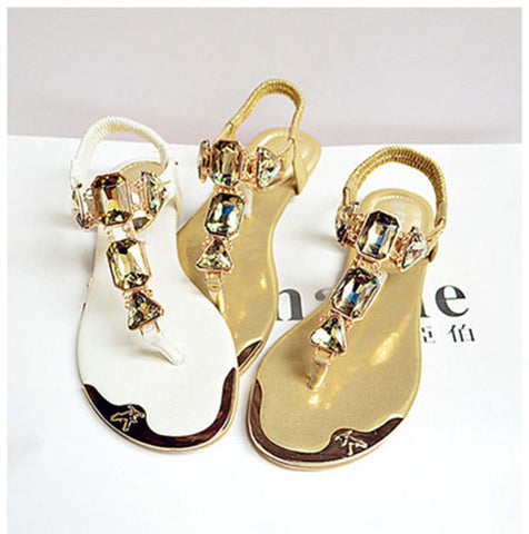 Woman Rhinestone flip flop casual sandals