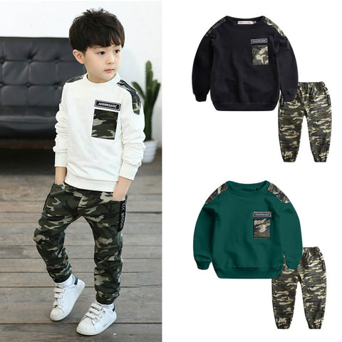Kids Boys Camouflage Top & Pants 2PC Set