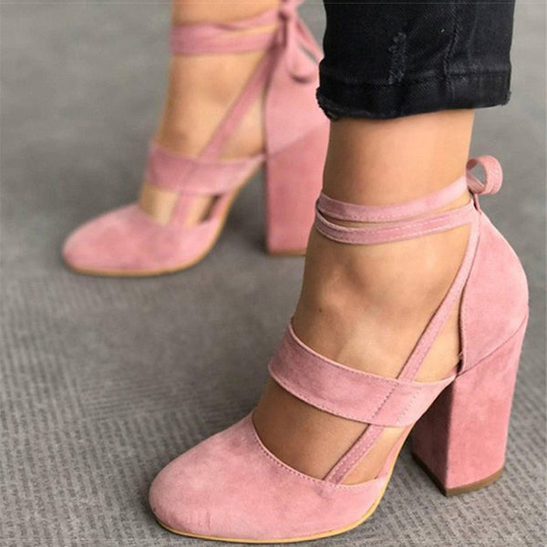 Women Pump Thick Heels