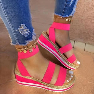 Women Wedge Lace Up Sandals