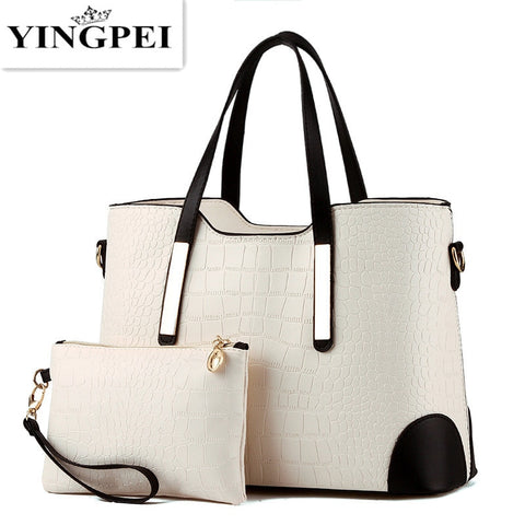 YINGPEI Handbag Top-Handle with Composite Bag Purse Wallet