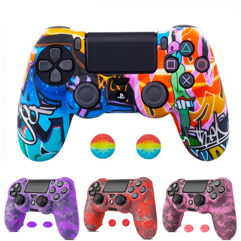 Silicone Camo Protective Skin Case For Sony Dualshock 4 PS4