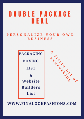 Double Package Deal-Website Builders & Packaging Boxing List