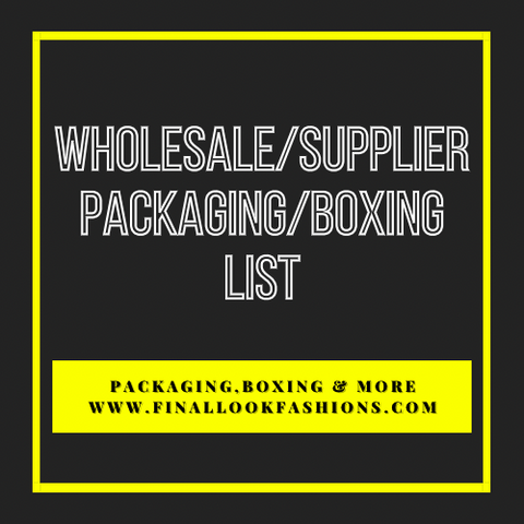 Packaging & Boxing List