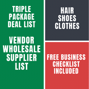 Triple Package Deal List-Hair, Shoes & Clothes