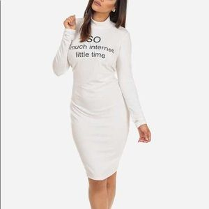 Turtle neck long sleeve dress (So much Internet little time)