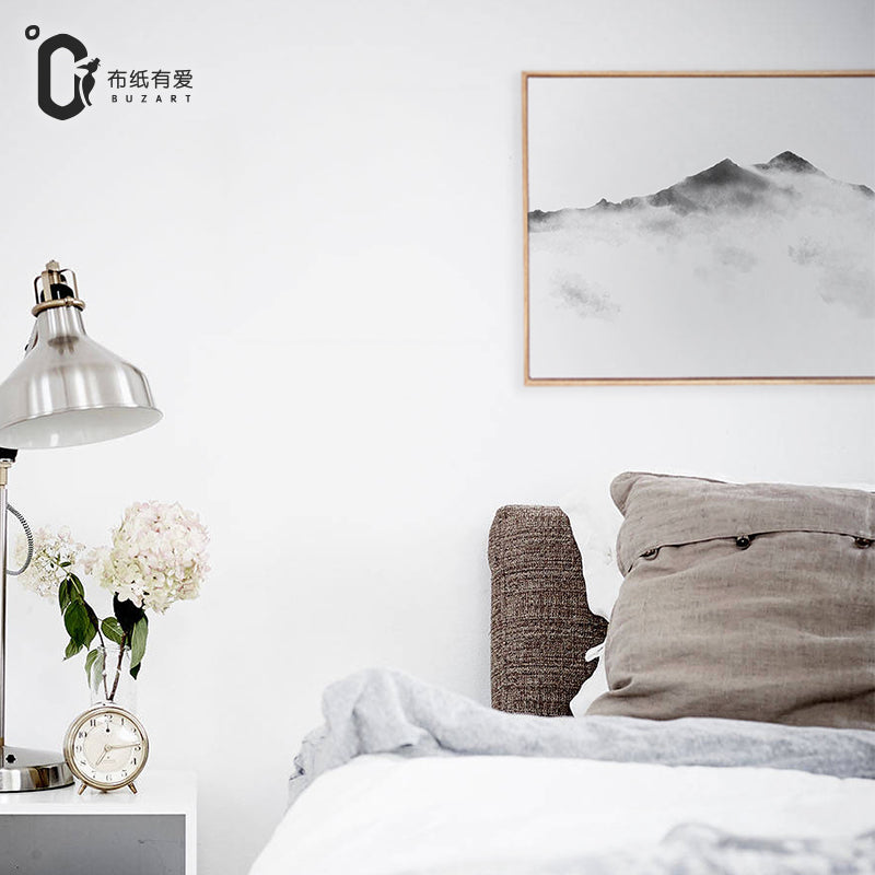 Mountain top Chinese zen paintings for living room wall black abstract paintings wall art prints home decor No Frame