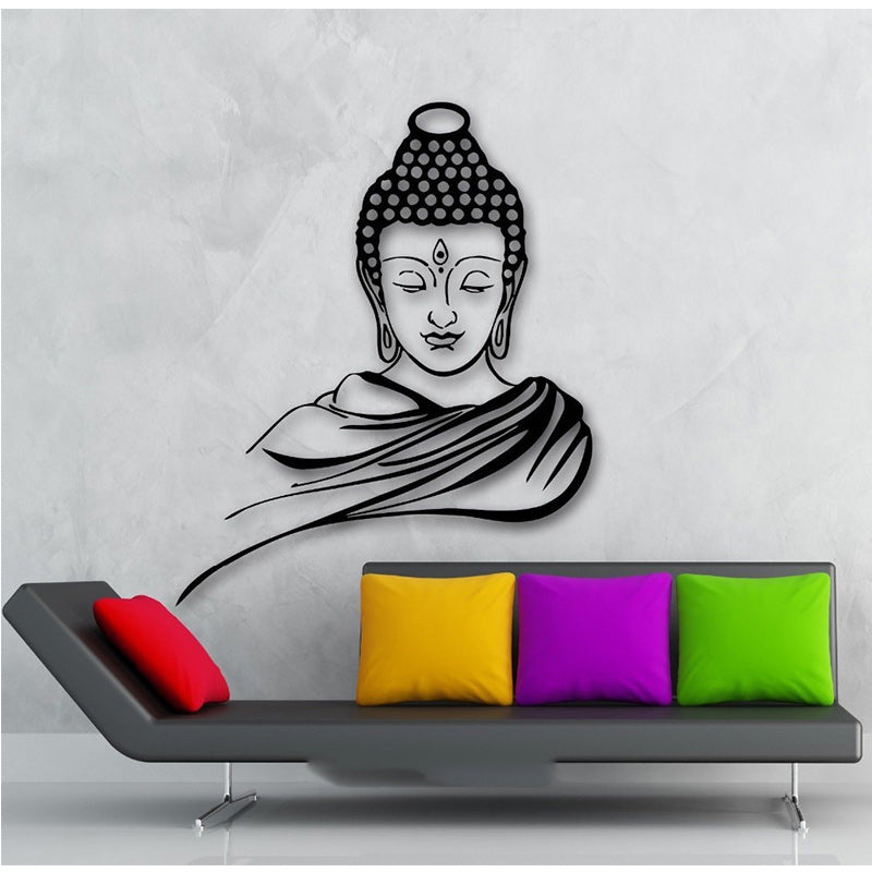 Free Shipping Home Decor Wall Sticker Religion Buddhism Buddha Meditation Wall Sticker Decal Vinyl Art Home Decor 2 sizes