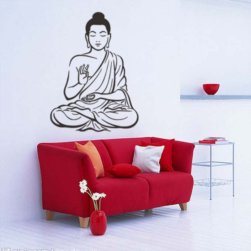 Hindu Buddha Buddhism Wall Stickers Mural Art Removable Home Decoration