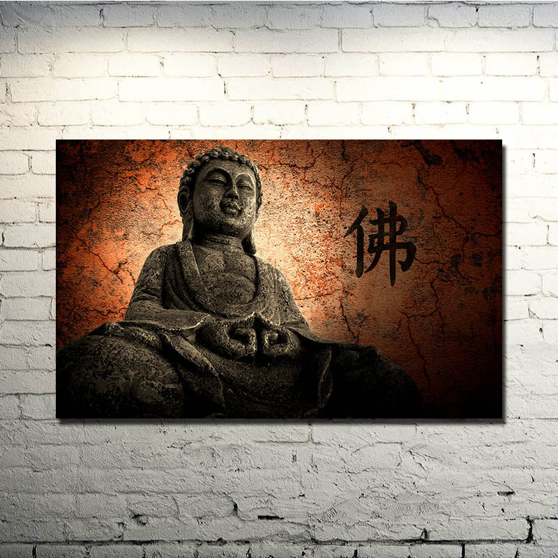 ZEN Stone Bamboo - Buddhism Art Silk Poster 13x20 inches Pictures for Home Wall Decor 036