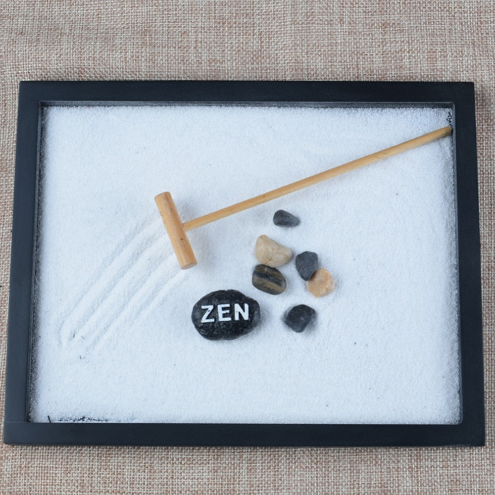 Zen Meditation Kit - Japanese Kaneshanshu Sand and Stone Garden Kit