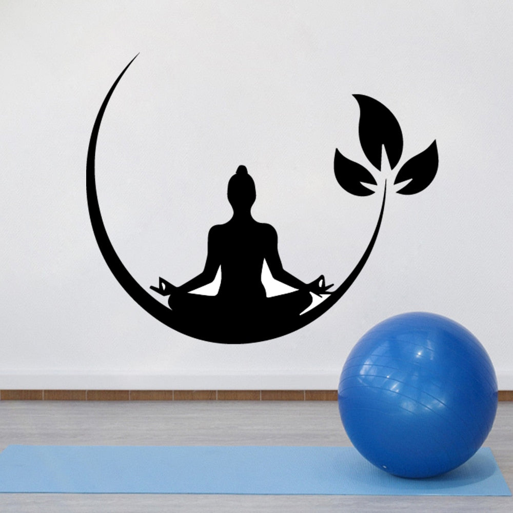 Yoga Meditation Vinyl Wall Stickers Buddhist Zen Wall Decal for bedroom Removable Wall Sticker Decor Yoga Wallpaper