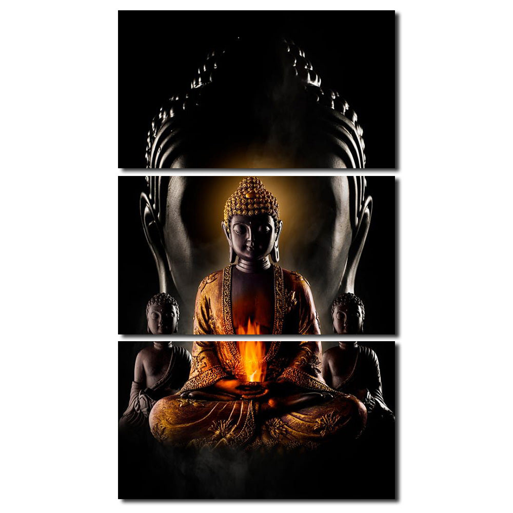 New Canvas HD Prints Pictures Wall Art For Living Room Home Decor 1 Piece Abstract Zen Buddha Painting Buddhism Poster