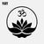 YJZT 13.7CM*14CM Car Stickers Vinyl Decal Buddha Buddhism Yoga Om Zen Meditation Decor Black/Silver C3-1547