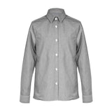 Bluse - Slim Fit - grau