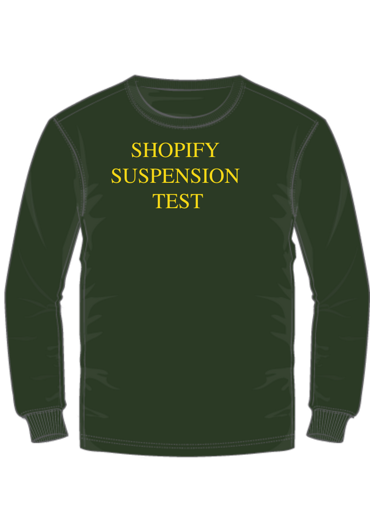 Test Shopify Suspended