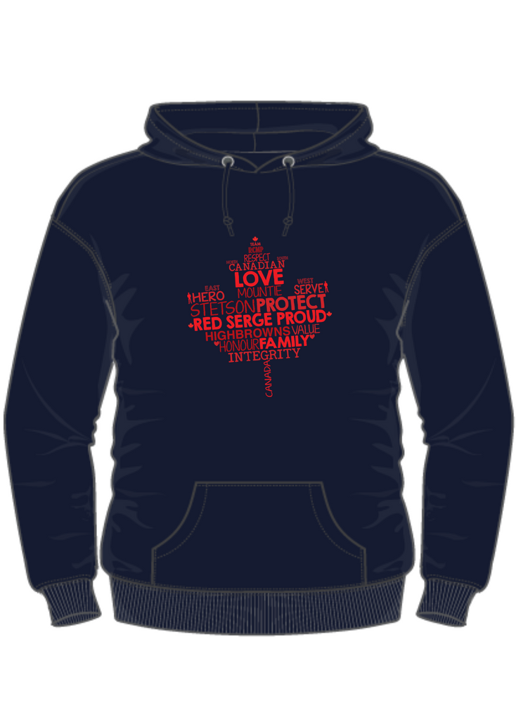 RCMP Spouses Maple Leaf Hoodie