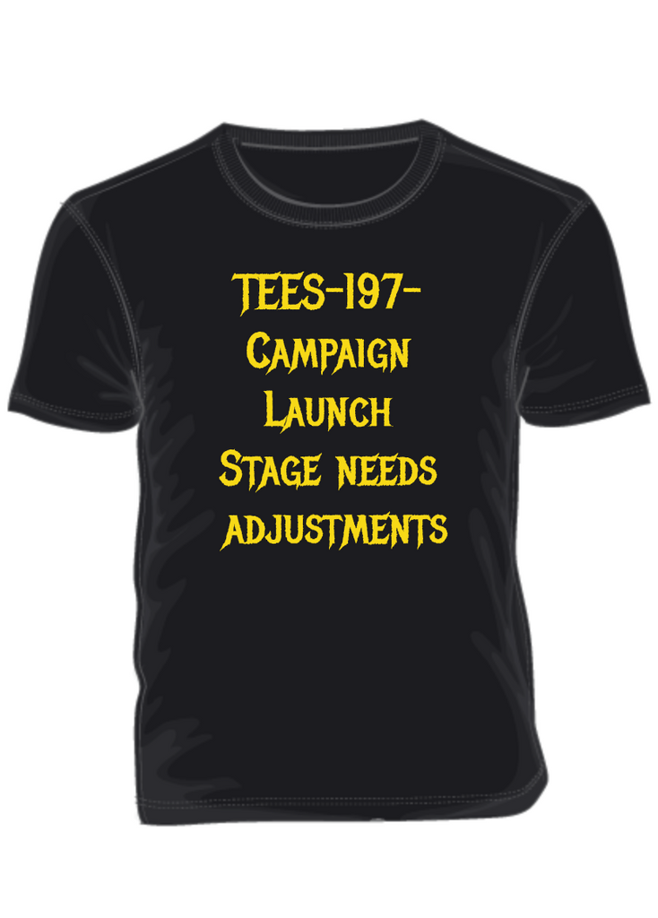 Campaign  Launch  Stage needs  adjustments