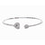 Kravit Jewelers 18k White Gold Diamond Heart Cuff Bracelet