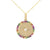 Kravit Jewelers 14k Yellow Gold Rainbow Disc Pendant