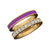 Kravit Jewelers 14k Yellow Gold & Purple Enamel Diamond Ring