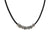 John Varvatos x Gurhan Simit Bead Necklace, Silver, On Leather Cord 24