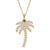 Kravit Jewelers 14k Gold Diamond Palm Tree Pendant