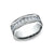 Benchmark 14k White Gold Men's Diamond Wedding Band -8mm