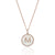 Luvente 14k Rose Gold Diamond & MOP Initial Necklace