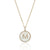 Luvente 14k Yellow Gold Diamond & MOP Initial Necklace