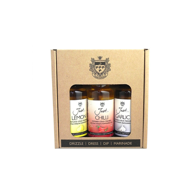 Just Cold Pressed Rapeseed Infused Oil Classic Gift Pack