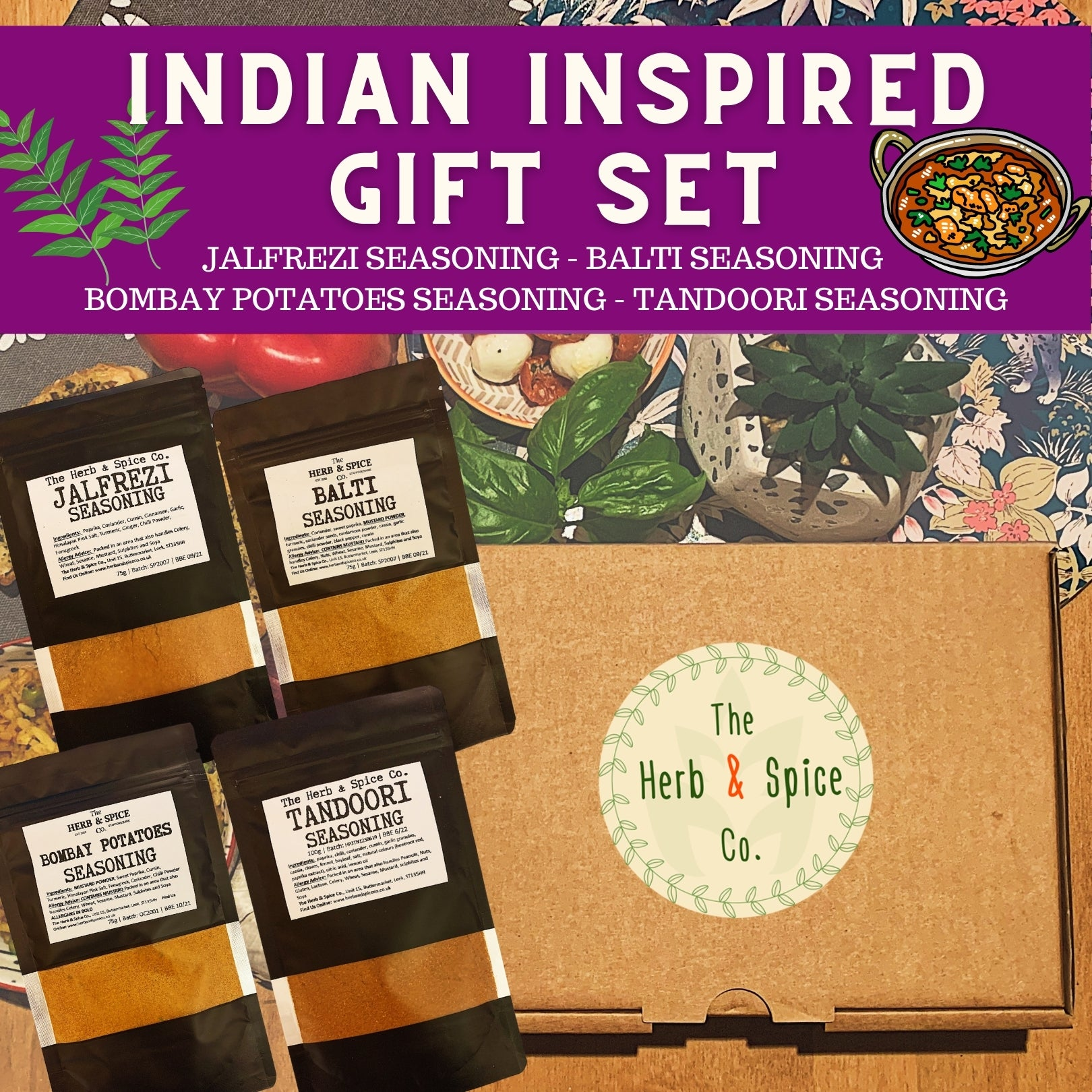 Indian Inspired Seasoning Gift Set The Herb & Spice Co.