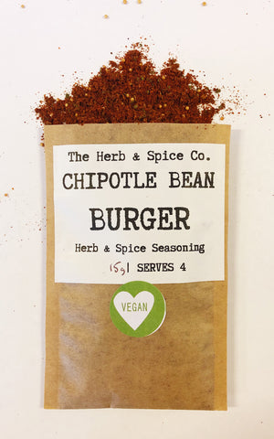Chipotle Bean Burger Seasoning The Herb & Spice Co. Seasoning Blend Herbs Spices Recipe Mix