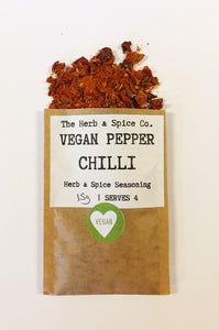 Vegan Red Pepper Chilli The Herb & Spice Co. Seasoning Blend Herbs Spices Recipe Mix